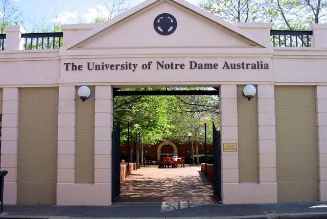 università in australia: univeristy of notre dame