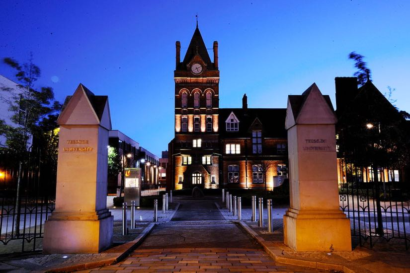 campus della Teesside University Middlesbrough UK