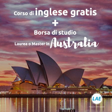 borsa di studio corso di inglese più master in australia