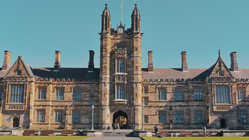 La University of Sydney ha un'architettura classica
