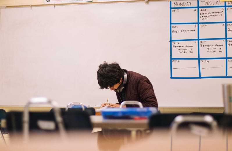 Studente impegnato nei Phd studies